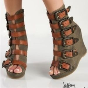Jeffrey Campbell Ibiza Last Genius Buckle Wedge 6